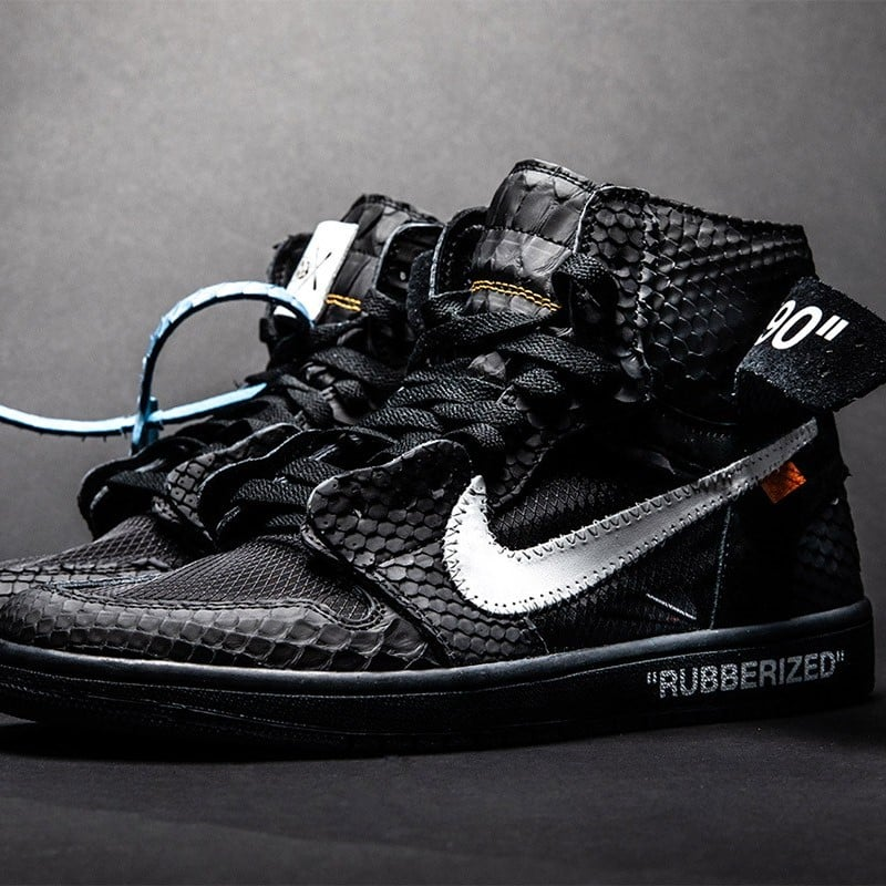 "62177c7985b917 Air Jordan 1 in ""Lux"" Rubberized Python by The Shoe Surgeon"
